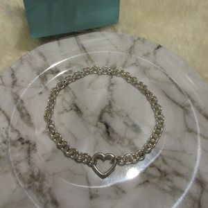 Tiffany & Co Heart Sterling Silver Necklace -RARE!